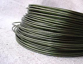 Suroviny - hliníkový drôt 2mm OLIVE - 4426800_