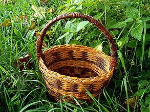 Košíky - papierový košík hríbikový - 4427161_