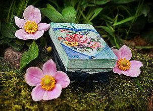 Krabičky - Krabička- ruža v srdci - 4429850_
