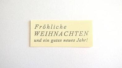 """Papier - Kartička """"Weihnachten"""" - strieborná - 4427994_"""