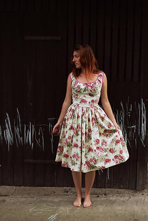 Šaty - romantické šaty -rose - 4433882_