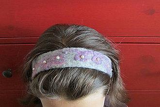Ozdoby do vlasov - plstená čelenka - 4432722_