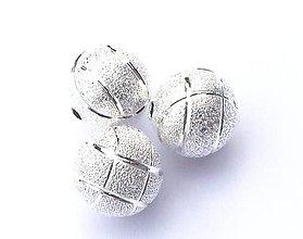 Korálky - Kovová korálka Indentatura 12mm - 4431571_