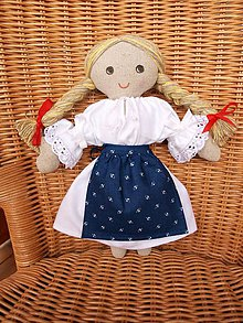 Bábiky - Katka - handrová bábika (2) - 4432485_