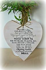 Tabuľky - Srdce s nápisom - 4433697_