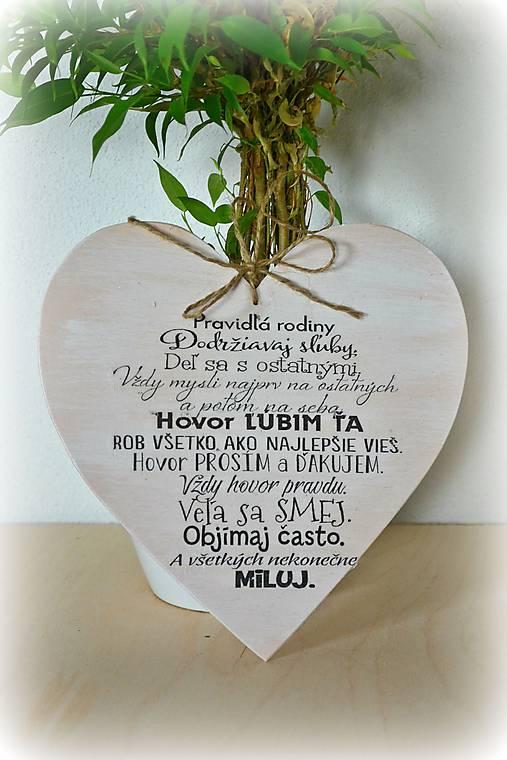 Srdce s nápisom