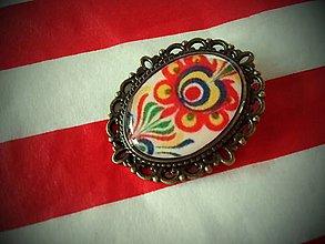 Odznaky/Brošne - Brošňa alebo odznak folklór - 4433571_