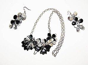 Sady šperkov - silver flowers set - 4437718_