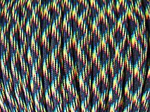 Náušnice - Uzlík z paracordu Galaxy - 4436740_