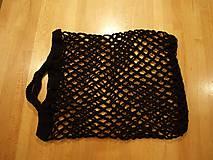 Nákupné tašky - Nákupní taška síťovka černá - 4435332_
