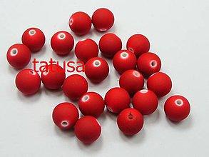 Korálky - Korálky - plastové neón 6mm - red 50ks - 4440135_