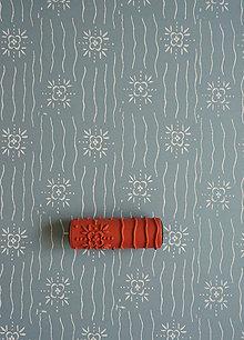 Pomôcky/Nástroje - vzorovaný maliarsky valček č.13 - 4441317_