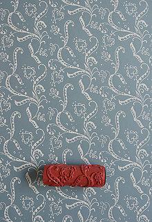 Pomôcky/Nástroje - vzorovaný maliarsky valček č.18 (tradičný ornament) - 4441363_
