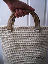 Veľké tašky - VÝPREDAJ... prírodná vlnená do ruky... - 4438881_