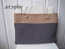 Iné tašky - VÝPREDAJ... pure nature/Dvojfarebka v bavlne... - 4438976_