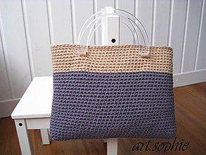 Iné tašky - VÝPREDAJ... pure nature/Dvojfarebka v bavlne... - 4438980_