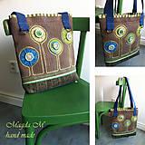 Veľké tašky - Kabelko-taška v modro-zelenom šate - 4440116_