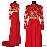 Šaty - Spoločenské šaty vyšívané korálkami - 4440033_