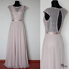 Šaty - Spoločenské šaty s holým chrbátikom a šifónovu sukňou do A - 4438574  ac3e9fec852