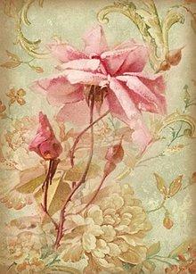 Papier - Ryžový papier, antik. ruže, DFSA4001 - 4443312_