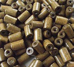 Korálky - Drevené valčeky Capucino 10x6mm - 4442084_