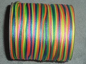 Galantéria - Nylonová šnúrka 1,5mm dúhová 34 - 4441692_