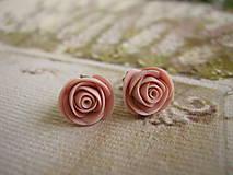 Náušnice - Mini Ruže - 4442115_