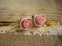 Náušnice - Mini Ruže - 4442122_