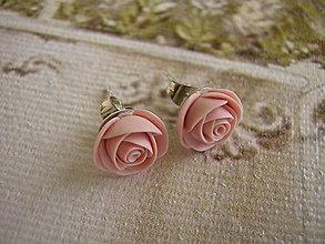 Náušnice - Mini Ruže (staroružové) - 4442121_