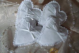 Darčeky pre svadobčanov - Svadobné srdiečka - 4442229_