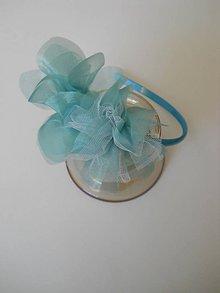 Ozdoby do vlasov - Čelenka modro-biela - 4447701_