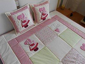 Textil - patchwork deka pre dievčatko - 4446498_