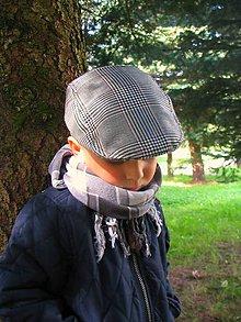 Detské čiapky - Bekovka pepitová - 4446841_