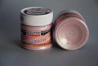Farby-laky - Chamélenon farba, ružová-tyrkysová - 4444215_