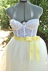 Svadba - vanilková tylova suknička - 4444845_