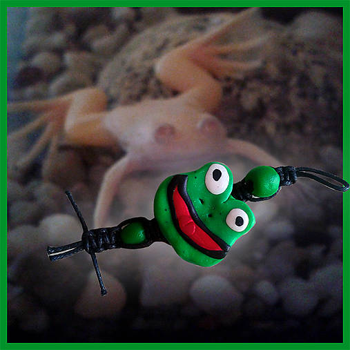 Shamballa kľúčenka - Žabka