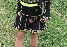 Sukne - black suknička+ štucne - 4448979_