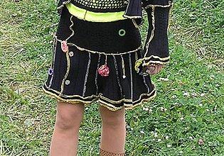 Sukne - lel,miniricohrej-suknička+ štucne - 4448979_