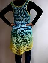 Šaty - háčkovaná vesta Ako vánok - 4448848_