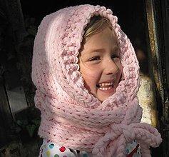 Detské súpravy - KapuCňošál pre dievčatká s lemom - 4450043_