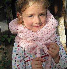 Detské súpravy - KapuCňošál pre dievčatká s lemom - 4450049_