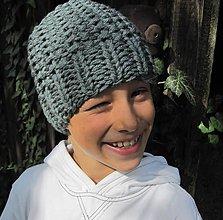Detské čiapky - kulich sivý - 4450230_