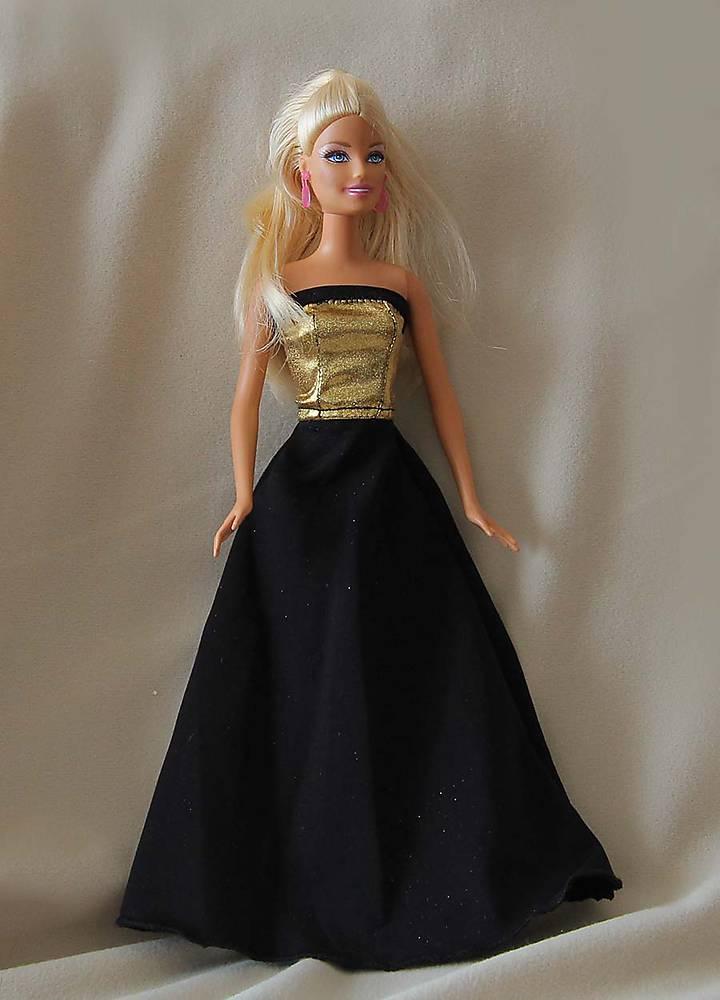 Zlatočierne spoločenské šaty pre Barbie   TrishaFate - SAShE.sk ... 7fef97aa07