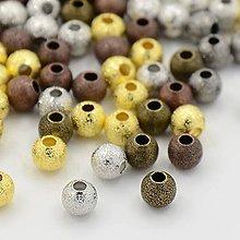 Korálky - Kovové korálky 4mm, 50 ks - 4448173_