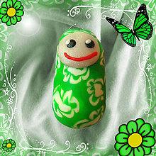 Kľúčenky - Kukulienka - zelená - 4447926_
