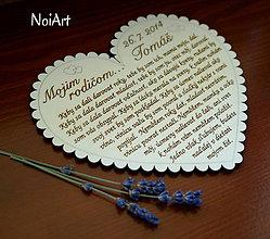 Darčeky pre svadobčanov - Svadobné srdce 5 - Poďakovanie rodičom - 4453895_