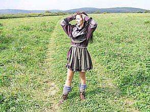 Kabáty - lel fialový sveter - 4454083_