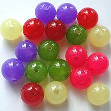 Korálky - MILK plast 14mm-MIX-20ks - 4452529_