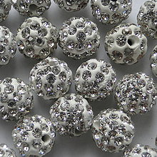Korálky - Disco guľka Crystal 10mm-1ks - 4452678_