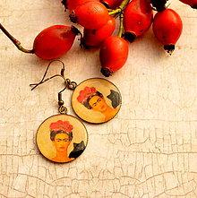 Náušnice - Frida n.1 - náušnice průměr 25 mm - 4454244_